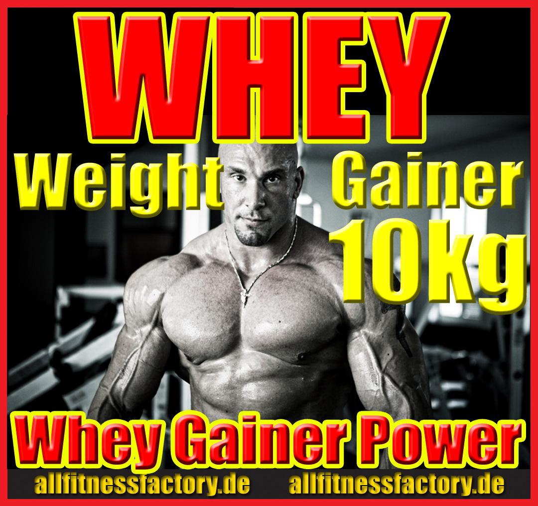 Whey Weight GAINER 10kg Eiweiß Muskelaufbau Vanille
