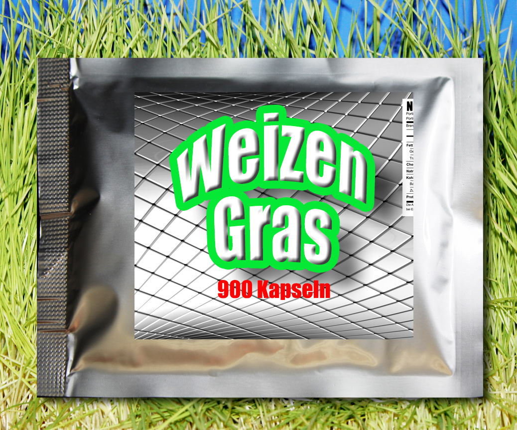 Weizengras Kapseln, 900 Stück zu je 600mg