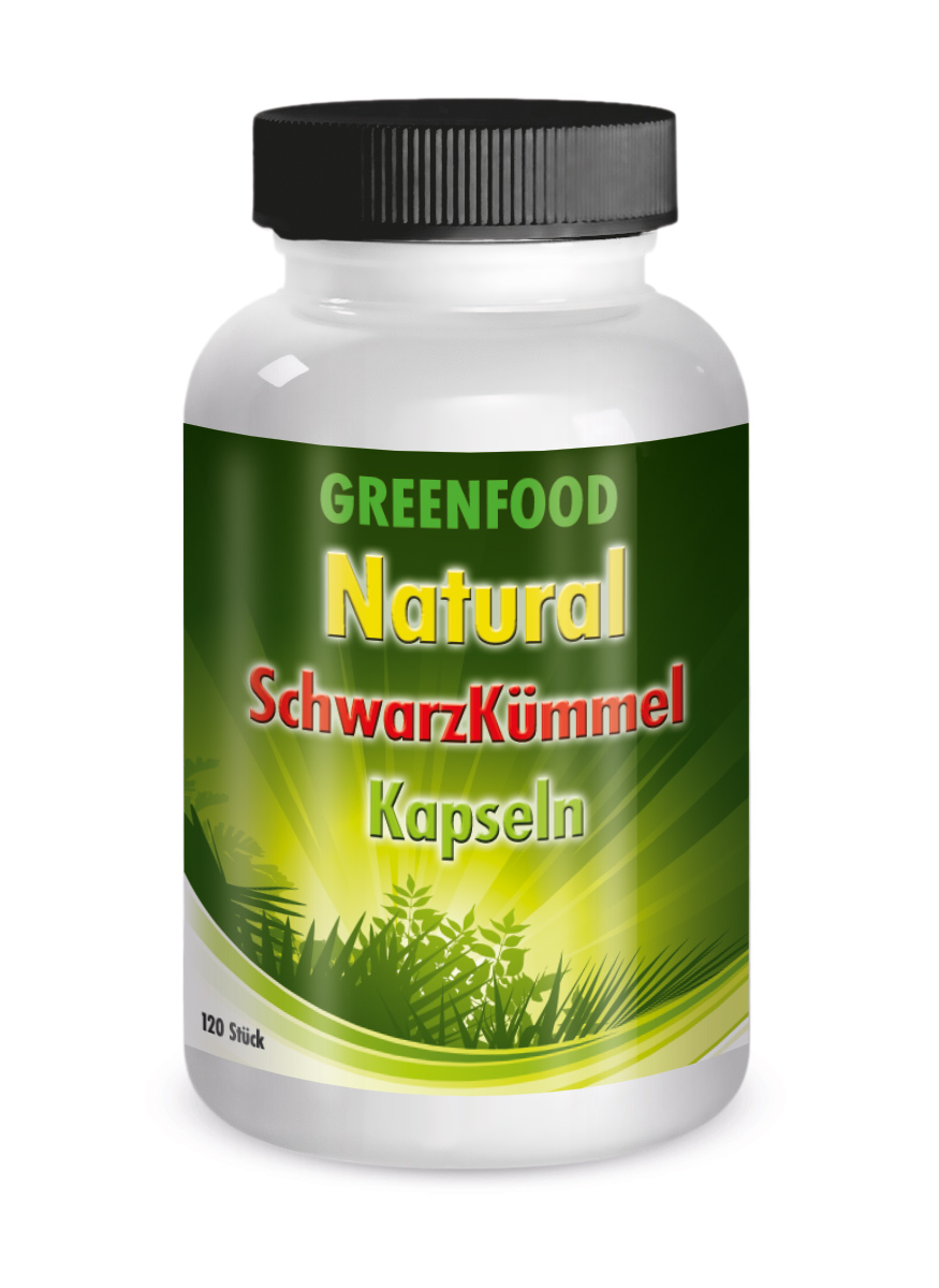 Greenfood Schwarzkümmel Kapseln 120 Stück 416 mg Kapseln