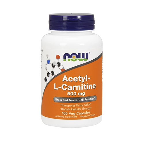 Now Foods, Acetyl-L-Carnitin, 500 mg, 100 Vcaps