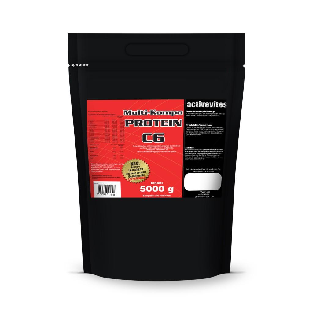 Protein 90 5kg Eiweiß Aminosäuren Muskelaufbau 5000g ZIP Vanille