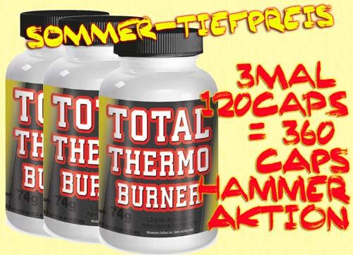 Total Thermo Burner 3 mal 120 Kapseln = 360 Stück